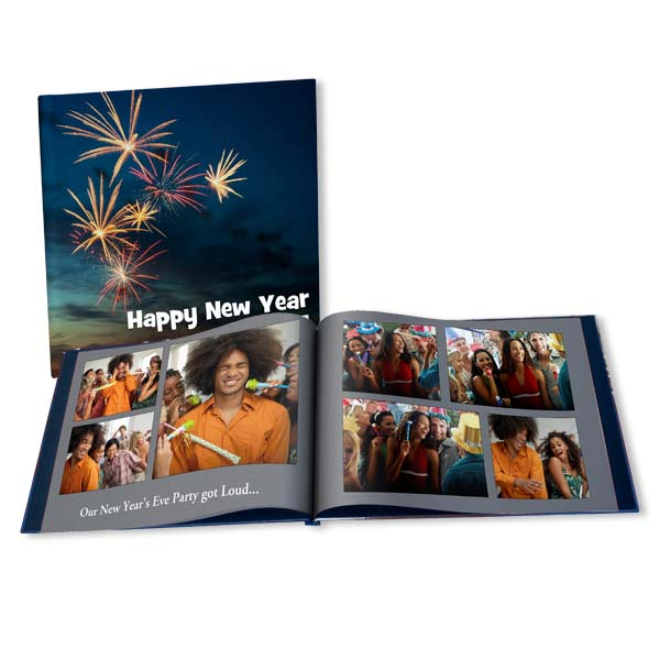 Show off your New Years party photos in elegance with a personalize New Years album.