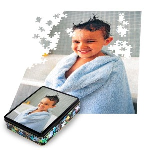 Personalized photo puzzles make a great gift for friends and family alike.