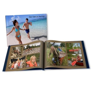 Display your favorite vacation memories together with our fully customized vacation books.