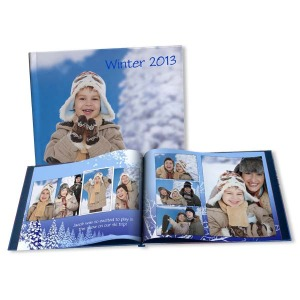 Perfect for your skiing or snowman building photos, our winter albums can be customized with a variety of templates.