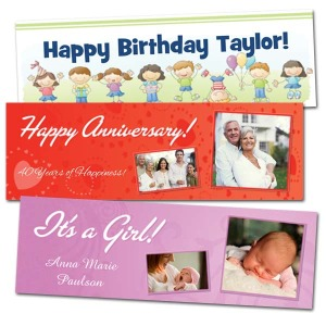 Customize your own banner with text and photos for your next celebration.