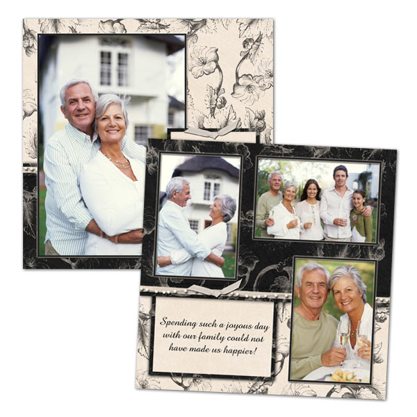 Display your photos artistically with one of our many 8x8 scrapbook print templates.