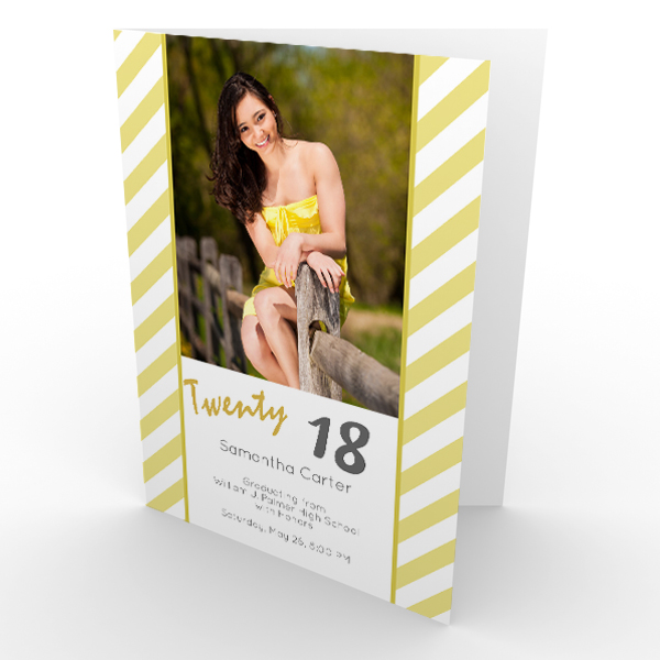 Add a personal touch to your graduation cards with your best senior year photos!