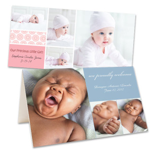 Create the perfect customized announcement to share your joy with our photo baby cards.
