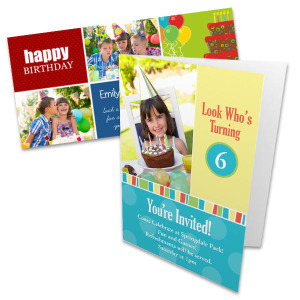 Create the ultimate birthday card or party invitation with a collage of favorite photos!