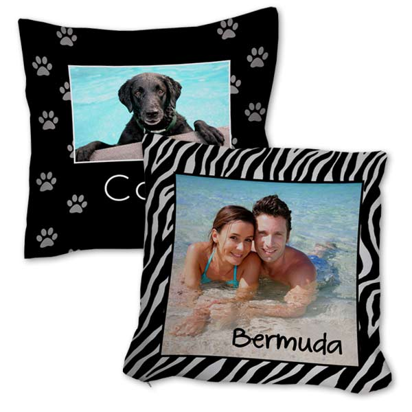 Display a fun photo on our 16x16 burlap pillow and add personality to your home decor.