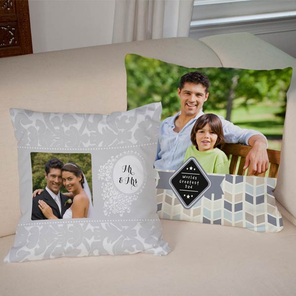 Personalized Burlap Pillows for your home.