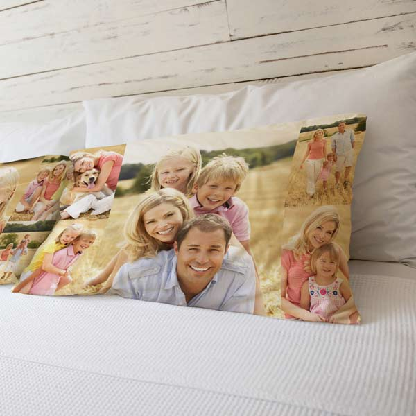 Photo collage pillowcase for your bedroom