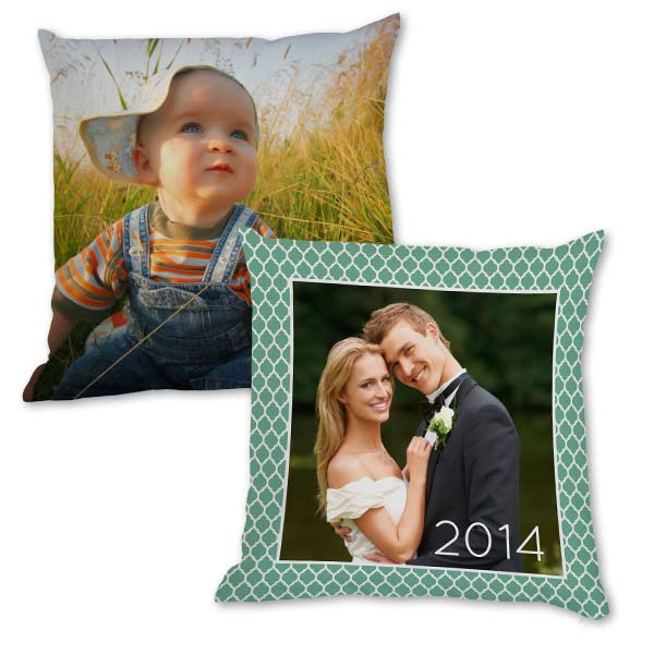 Display any photo in a unique and elegant way with our personalized photo pillows.