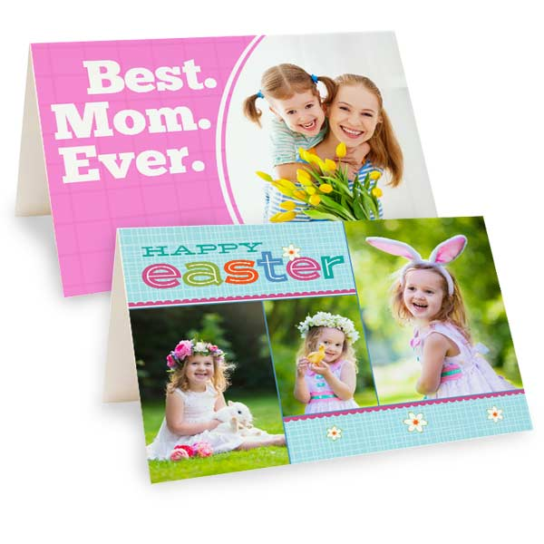 Create a custom mothers day card or Folding Easter Card