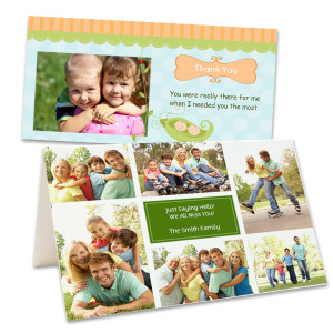 Upload a photo and create a customized card perfect for any occasion.