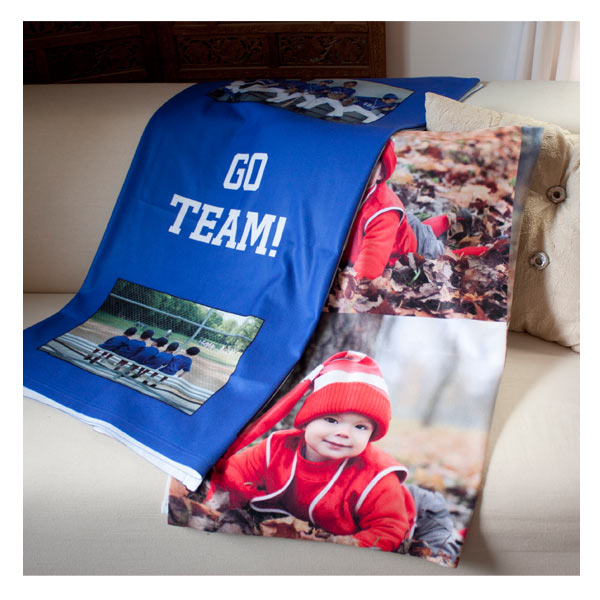 Print your favorite photo on a medium size fleece blanket and stay stylish while keeping warm.