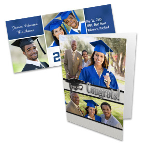 Select from several stylish templates and create the perfect graduation photo cards.