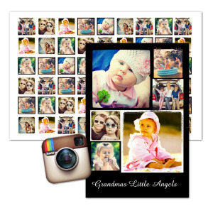 Artistically display your best Instagram photos together with our Instagram collage prints.