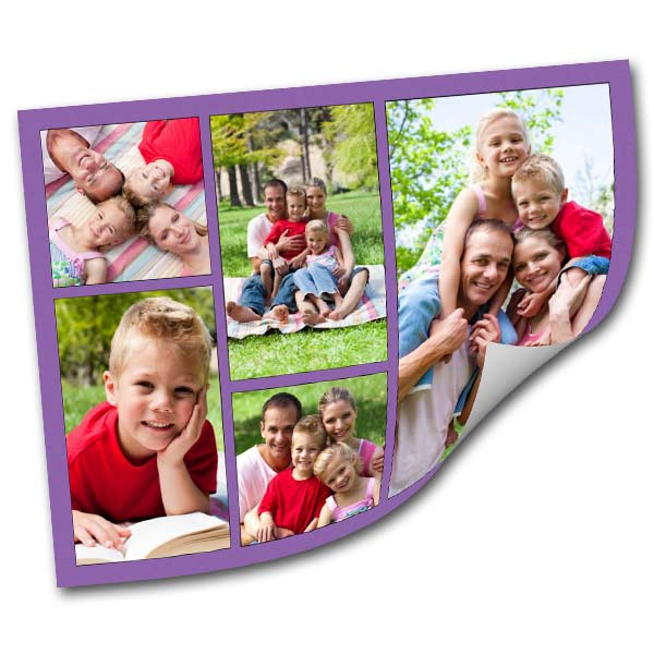 Decorate your wall in no time with a customized peel and stick collage of your favorite memories.