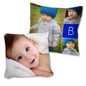 Add a splash of color to any room with our custom photo throw pillows.