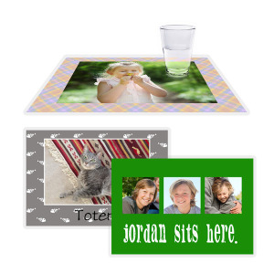 Our custom photo placemats can be designed for each place setting for a stylish and fun update to your kitchen decor.