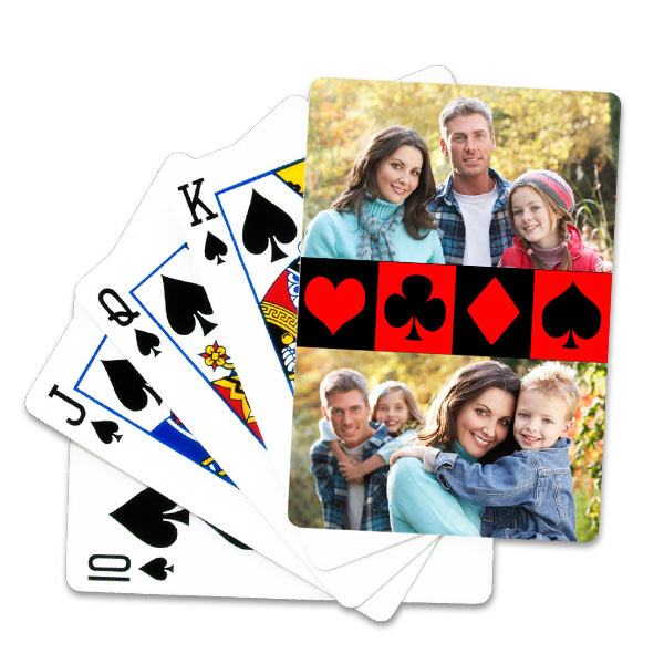 Get creative and design your own set of fun custom photo playing cards for hours of entertainment.