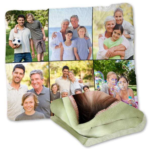 Enjoy the comfort, warmth and style of our personalized photo plush fleece blanket.