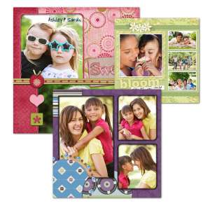 Using our variety of templates, you can show off your photos with our personalized scrapbook pages.