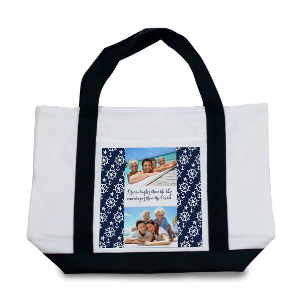 Choose from many designs and create your own beach tote or baby bag