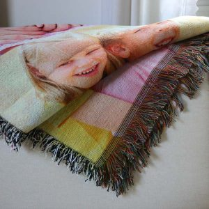 Create a custom woven tapestry throw for your couch or wall in your home