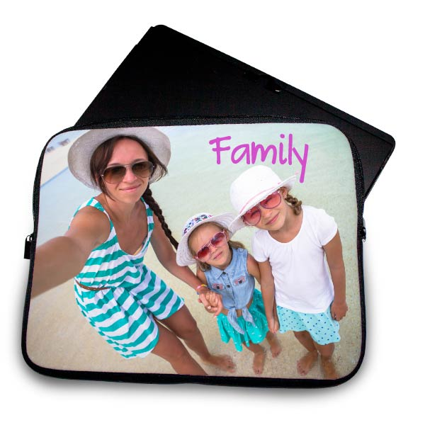 Create your own protective laptop case using your own picture and text