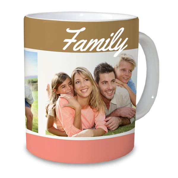Select a photo, choose a layout and create the picture perfect photo mug for your morning beverage.