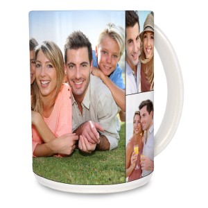 Wake up every morning to a collage of your favorite photos with our customized 15oz photo mug.
