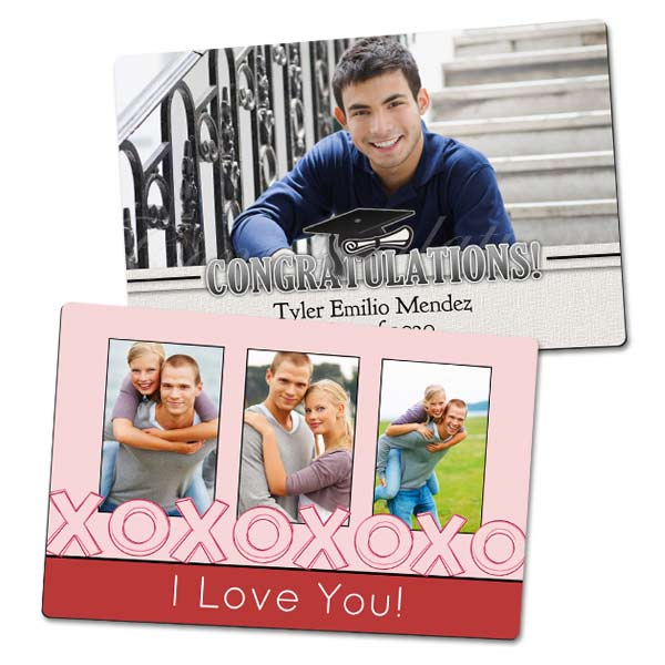 Create a photo magnet with flare and design for your fridge or office