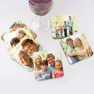 Tranform any digital image into a set of stunning photo coasters, perfect for any decor.