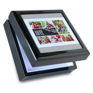 Display any digital image in style with our custom wooden jewelry box.