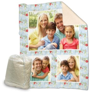 Our custom sherpa blankets make the perfect decor accessory for you bed or living room sofa.