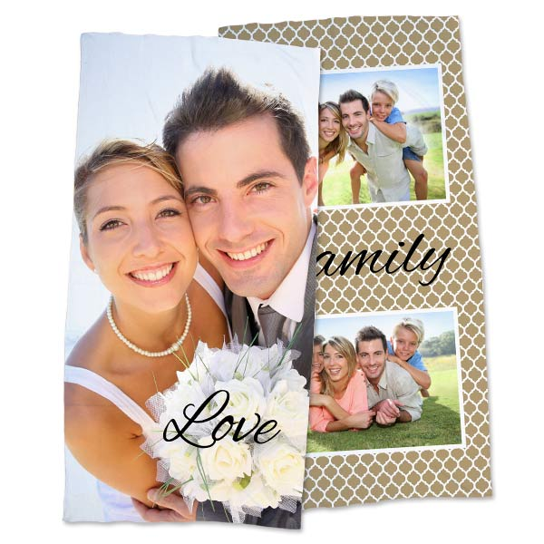 Create your own photo bath towel perfect for your bathroom decor or even a day at the beach.