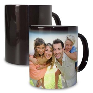 Our black magic mug is sure to entertain each morning when your pour your hot coffee or tea.