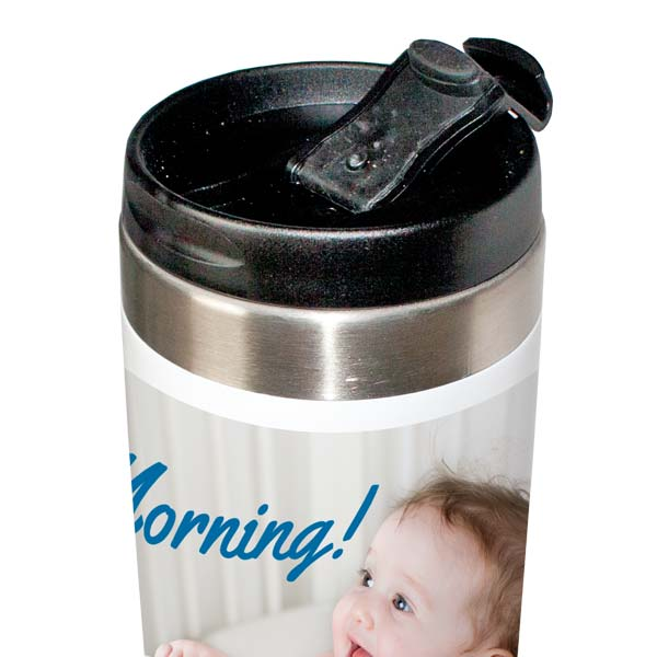 Travel Tumbler top with snap shut lid