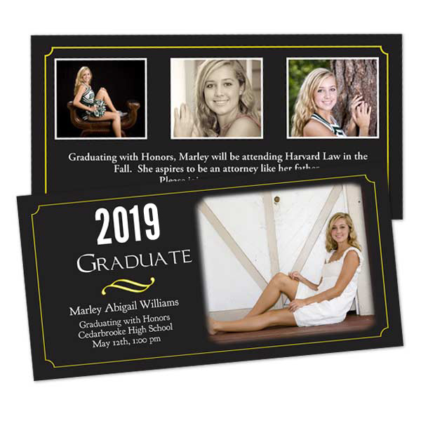 Create a custom double sided card for your graduate on Winkflash