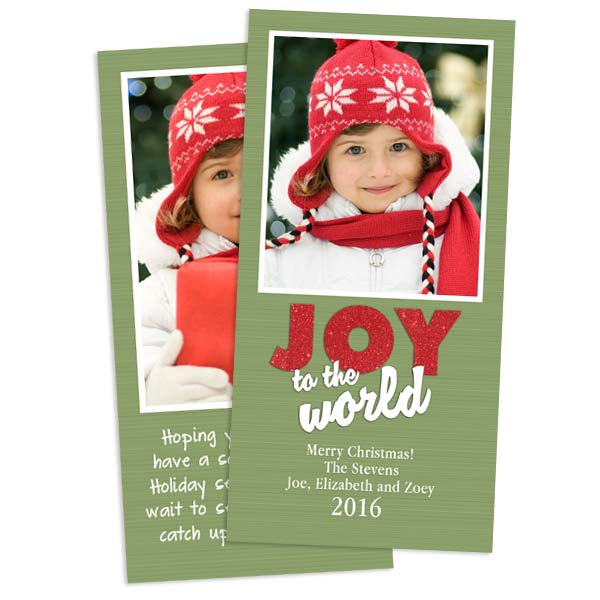 Classic 4x8 Greeting cards printed on Card Stock, personalize front and back