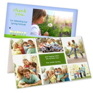 Add a personal touch to your Spring greeting to your loved ones with our customized photo cards.