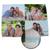Create a photo personalized place mat for your table with a burlap style weave