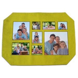 Dress up your dining decor with our customized photo fabric placemats available in multiple stylish templates.