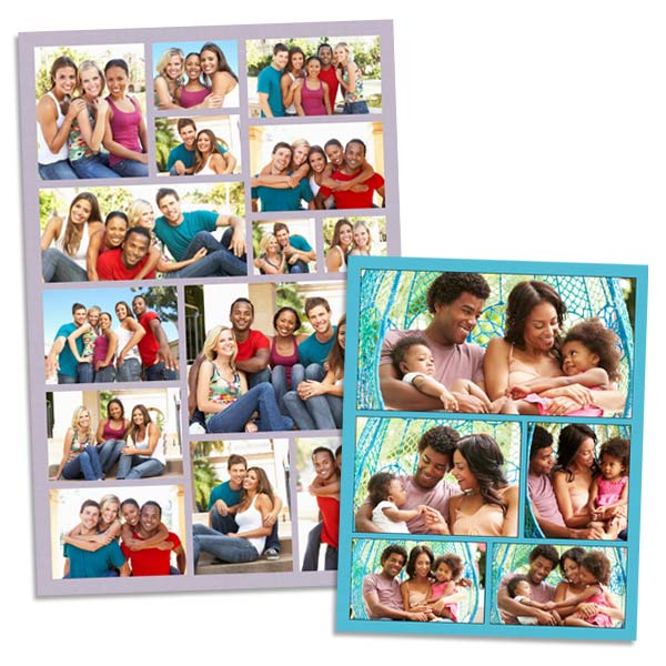 Home decor photo art wall collage of pictures with color highlight