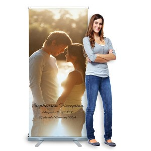 Perfect indoors or out, our retractable banner is perfect for any event or business advertisement.