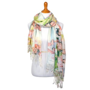 Personalize any outfit and design your own tassel scarf complete with your favorite digital images.