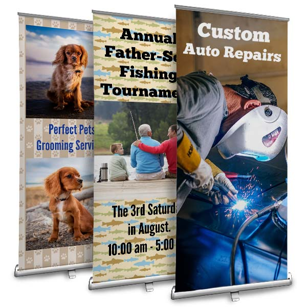 Create for your business or an event with Winkflash retractable banners