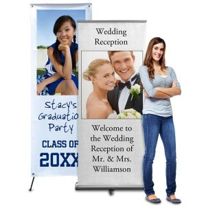 Advertise your business or customize your party décor with our fully personalized photo banners