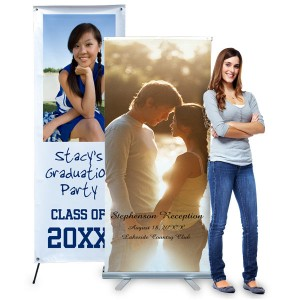 6 foot stand up display banner for events, parties and trade shows