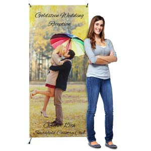 Perfect for any occasion, our custom standing banners can be customized with your best photos.