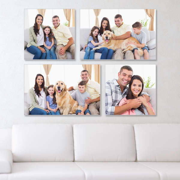 Fill up any blank wall with style and customize your own photo canvas wall art arrangement.