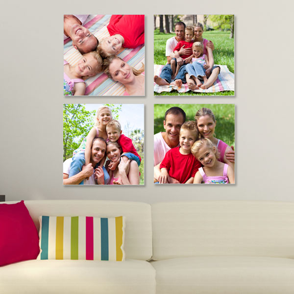 With symmetry and style, you can't go wrong with our four piece photo canvas cluster set.